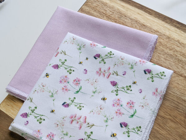 Econabee_floral_bee_autumn_leaves_handkerchiefs_hankies_handkerchief_eco_friendly