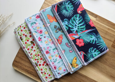 Face_Cloths_Flannels_Tropical_Strawberry_Bee_Blue_Floral_Butterfly_Bamboo